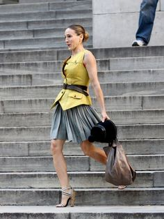 Fashion Librarian.  Carrie Bradshaw. Library Outfit.