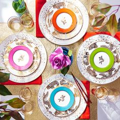This collection of colorful dishes by New York socialite Tinsley Mortimer is inspired by her Southern upbringing and personal style. #zulilyfinds