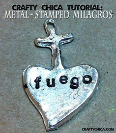 One of the projects on our 6th Annual Crafty Chica Cruise was metal stamping, thanks to Impress Art. It was one of those projects that I knew I wanted to