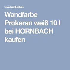 Wandfarbe Prokeran Weiss 10 L Wandfarbe Latexfarbe Wande