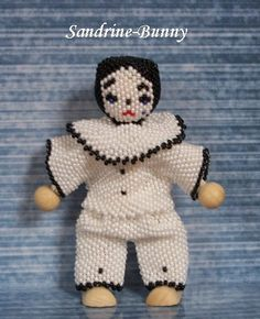 Beaded Pierrot by Sandrine Bunny