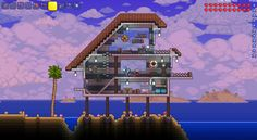 My Terraria Beach House. Can I have it made IRL, please? *by Kristy Dalman*