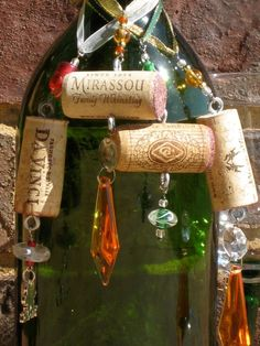 Wine Cork Ornaments. $5.00, via Etsy.