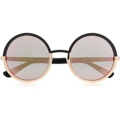 Marc By Marc Jacobs Oversized Round Sunglasses (140 AUD) ❤ liked on Polyvore featuring accessories, eyewear, sunglasses, glasses, oculos, fillers, retro glasses, mod sunglasses, retro sunglasses and retro style sunglasses