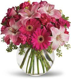 Μπουκετο με διαφορα λουλουδια.