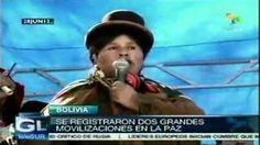 Bolivianos se manifiestan en apoyo a #Evo Morales