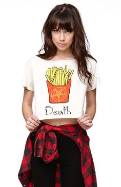 Hips and Hair Death Fries Cropped Tee