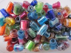 Making plastic beads out of pop bottles!