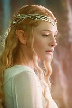 Cate Blanchett as ''Galadriel'' in the movie ''The Lord of the Rings:The Fellowship of the Ring''. 2001.