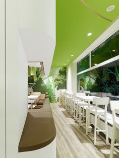 Modern Green Fast Food Restaurant Design Ideas Wienerwald Restaurant Modern Decor