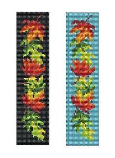 Bead Loom OR Peyote Maple Leaves Border Bracelet Pattern PDF