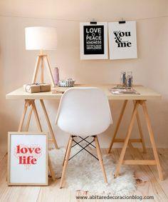 Planificar una zona de trabajo en casa http://abitaredecoracionblog.com/decorar-una-zona-de-trabajo-en-casa/