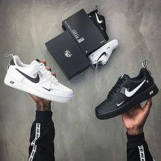 Nike Air Force 1 Utility 🔥 Link in Bio ☝🏼 Bald ausverkauft . Nike Air Shoes, Adidas Shoes Women, Nike Air Max, Sneakers Nike, Air Max Sneakers, Shoes Jordans, Women Nike, Nike Air Force Black, Nike Air Force Ones