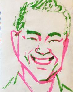 いいね!8件、コメント1件 ― @1mindrawのInstagramアカウント: 「#1mindraw #yanagiyakaroku #柳家花緑 #落語家 #19710802 #birthday #誕生日 #portrait #筆ペン画」