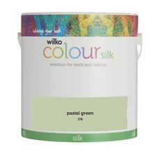 Wilko Silk Emulsion Paint                         Pastel Green 2.5L