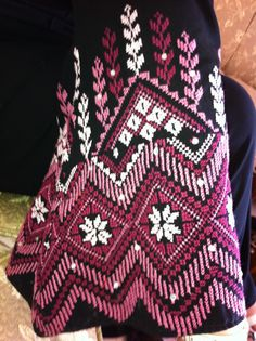 Beautiful embroidery from Idna-Hebron .Palestine.