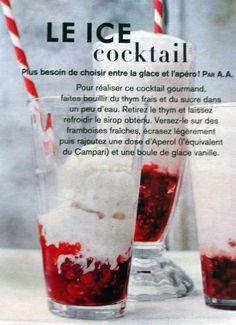 NOURRITURE - Ice Cocktail : entre apéro et glace, pourquoi choisir ?