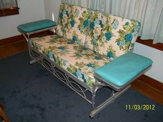 Vintage Blue Patio Glider, Aluminum   $200 (Meridian) Read More: Http: