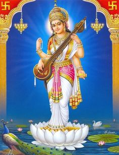 Goddess Saraswathi is the Hindu goddess of education, music, arts, knowledge and learning. Find a good collection of Goddess Saraswati images & wallpapers. Saraswati Vandana, Saraswati Mata, Saraswati Goddess, Shiva Shakti, Saraswati Idol, Durga, Divine Goddess, Goddess Of Love, Mother Goddess
