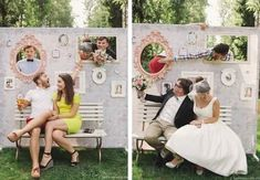 """Photo booth set 2 pièces /""""bulles/"""" props mariage photo revêtement Fotobox"""