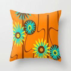 Mod Flower Pillow, Modern Outdoor Pillow, Modern Outdoor Pillow, Outdoor  Cushion