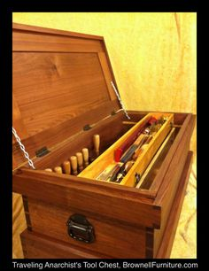 Completed Traveling Anarchist's Tool Chest | Brownell Furniture