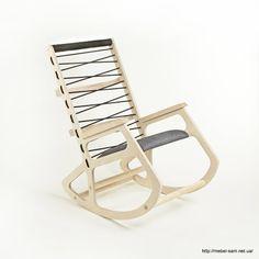 Фанерное кресло-качалка от Klaudia Kwiatkowska