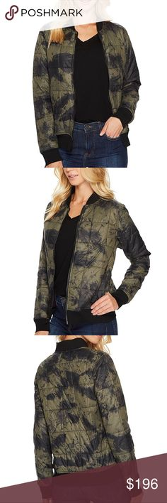NWT Lanston Camo Bomber Jacket This Lanston jacket is a must-have this season. Bomber Jacket features a camo-like exterior and rib finishing, making it a layering essential. Cut from a padded polyester fabric with a quilted design. Mini-baseball collar. Zip-front closure. Zip pockets. Straight hemline. 100% polyester. Dry clean. Made in the U.S.A. and Imported. Product measurements were taken using size SM. Please note that measurements may vary by size. Measurements: Length: 24 in Lanston…