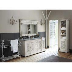 Mobile in legno e marmo per doppio lavandino L 160 cm