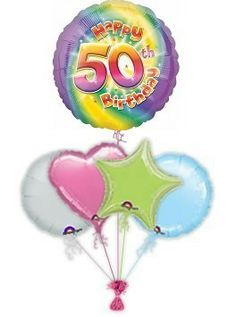 """Mark their birthday with fabulous Rachel Ellen designed specific age """"Stripes"""" birthday balloons. Wonderful age specific helium filled birthday balloons in a box by free balloon delivery. Helium filled balloons in a box. Get Well Balloons, Send Balloons, Disney Balloons, Helium Filled Balloons, Birthday Balloon Delivery, 60th Birthday Balloons, 70th Birthday, Birthday Presents, Friend Cartoon"""