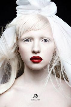 The gorgeous Russian albino model, Nastya (Kiki) Zhidkova - *Kumarov is her 1st photograph!! Kumarova is NOT her last name!!