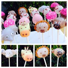 Safari Themed Cake Pops by: Stick a Cake In It