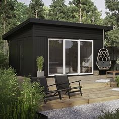 Backyard Studio, Backyard Pool Designs, Backyard Sheds, Garden Studio, Small Summer House, Shed House Plans, Building A Container Home, Weekend House, Shed Homes