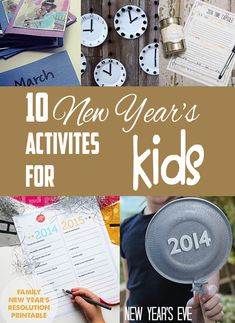 10 fun and easy New Years Activities for Kids! These are perfect, I never know how to make it fun for kids! New Years Activities, Indoor Activities For Kids, Fun Activities, Children Activities, Kids New Years Eve, New Years Party, New Year's Eve Crafts, Crafts For Kids, New Year Celebration