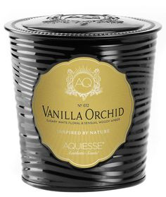 AQUIESSE VANILLA ORCHID Tin 11oz Portfolio Collection Scented Soy Candle