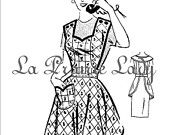 Repro Vintage Full Apron 50's PDF Pattern No 34 Available in M-L-XL. $5.00, via Etsy.
