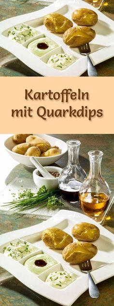 Rezept für Kartoffeln mit Quarkdips mit viel Eiweiß - und weitere leckere Magerquark-Rezepte zum Abnehmen ...