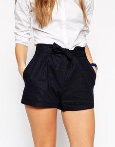Image 3 ofASOS Linen Belted Short