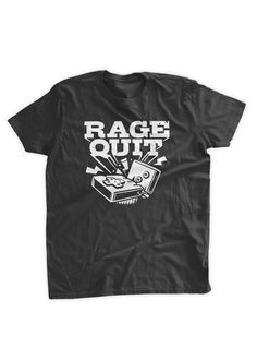 Rage Quit T-Shirt Video Game Controller Gamer by BumpCovers Older Women  Fashion 597f0d127a