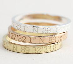 beautiful personalized coordinate rings