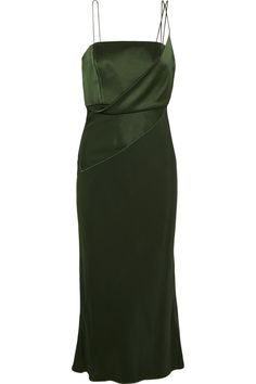 Topshop Unique | Silk-satin midi dress