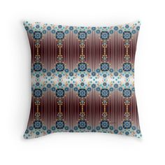 """""""Folk Festival"""" Throw Pillows by PolkaDotStudio 