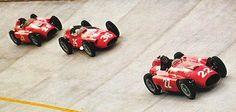 1956 GP de Europa (Monza) - #22 Fangio, #36 Moss y #26 Collins, Ferrari D50 801 F1 V8