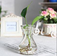 Floreros decoración del hogar de gran tamaño de cristal jarrones decoración de la boda macetas macetas botellas de vidrio