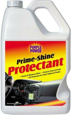Purple Power (1420P) Prime-Shine Protectant - 1 Gallon Advanced formula renews and protects rubber, vinyl, plastic and leather surfaces. Guards against harmful UV rays. Preserves to a beautiful long-lasting finish. No messy residue.  #PURPLE_POWER #Automotive_Parts_and_Accessories
