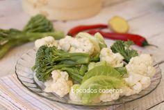 Bocados Caseros: Verduras al vapor con vaporera de bambú