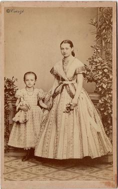 Sisters 1860 by Csoszi, via Flickr Notice the older girl's shorter skirts, short sleeves, and open neckline