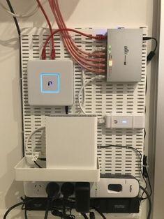 Network Cabinet, Network Rack, Ikea Pegboard, Cantilever Shelf, Diy Rack, Server Rack, Video Game Rooms, Home Network, Usa Network