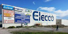 Rotulación fachada Nave Industrial www.logovision.es