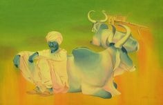 "Saatchi Online Artist Zala Bhavesh; Painting, ""Resting"" #art, watercolor wash on 300gsm HP. paper."